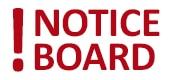 The Weavers Practice Notice Board