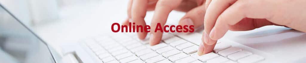 Online access header